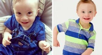 Het verhaal van Riley, het kind met het syndroom van Down dat dankzij zijn glimlach model werd