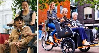 I volontari di questa associazione trasportano anziani in bicicletta per far rivivere loro l'emozione di pedalare
