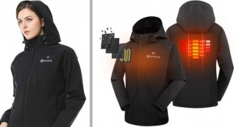 Deze verwarmde jas met geïntegreerde batterij houdt je zelfs in de koudste maanden warm