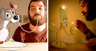 Deze man maakt hilarische portretten samen met zijn meest geliefde stripfiguren