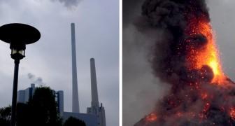 L'uomo produce emissioni di CO2 cento volte maggiori di tutti i vulcani della Terra messi insieme