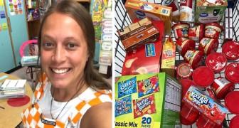 Deze lerares koopt eten voor een van haar leerlingen nadat het kind haar heeft verteld dat hij thuis niets meer heeft