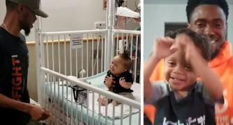 Questo bambino con la sindrome di Down ha sconfitto la leucemia a 3 anni e ora balla felice assieme al suo papà