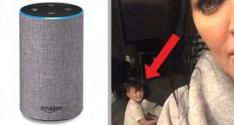 Un bimbo è stato sorpreso dalla madre mentre si faceva aiutare con i compiti dall'assistente vocale Alexa