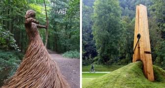 Kunst in de Natuur: 15 foto's van ingenieuze installaties en sculpturen in de openlucht