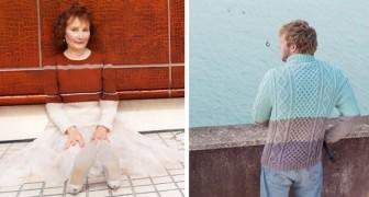 Nach 5 Jahren und vielen Stunden Strickarbeit bekommt dieser Fotograf kuriose Aufnahmen von unsichtbaren Pullovern