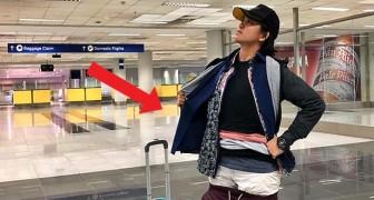 Dit meisje droeg meer dan 2 kg extra kleding om te voorkomen dat ze bagage moest bijbetalen op de luchthaven