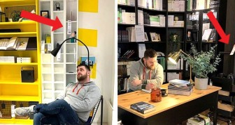 Hij publiceerde foto's in trendy huizen om indruk te maken op meisjes, maar toen bleken ze bij Ikea te zijn genomen