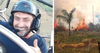 Deze paragliding instructeur vliegt over de meest verwoeste gebieden van de Amazone door boomzaden te verspreiden