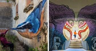 19 esempi di street art che trasformano gli angoli più bui della città in meravigliose opere d'arte 3D