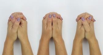 Il modo in cui intrecci le dita delle mani potrebbe rivelare alcuni tratti della tua personalità