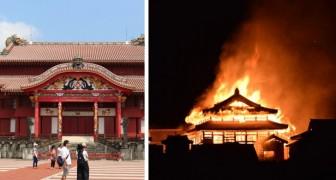 In Japan zerstörte ein Brand die Okinawa-Burg, die zum UNESCO-Weltkulturerbe gehört, vollständig