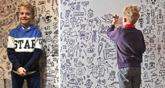 Il a 9 ans et ne peut s'arrêter de dessiner : un restaurant l'invite à décorer un mur