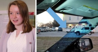 Een 14-jarige studente bedenkt een manier om het probleem van de dode hoek in de auto op te lossen