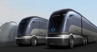 Dieser Hyundai-LKW ist wasserstoffbetrieben und ermöglicht einen emissionsfreien Güterverkehr