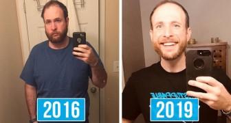 Questo ragazzo smette di bere e nei 3 anni successivi documenta la sua radicale trasformazione