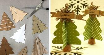 Segnaposto Natale Lavoretti.24 Idee Per Creare Mini Alberi Di Natale Da Usare Come
