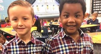 Questi due bimbi decidono di vestirsi uguali per sembrare gemelli, insegnando il valore dell'uguaglianza