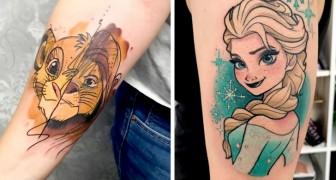 21 tatuaggi ispirati ai cartoni Disney che sono capaci di risvegliare il bambino che è in noi