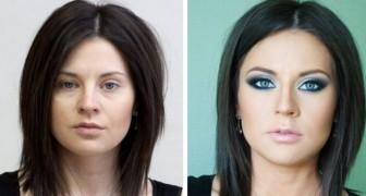 17 voor en na foto's die laten zien hoe make-up iemands gezicht kan transformeren