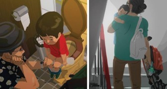 Cet homme essaie de dessiner l'amour d'un père et réussit à le faire en saisissant les meilleurs moments entre père et fils