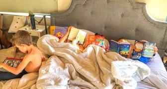 Sie verbietet den Kindern die Nutzung von Tablet und TV: Nach 7 Monaten wurden Bücher zu ihrer Lieblingsbeschäftigung
