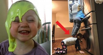 14 photos of children in disastrous but funny situations that surely exasperated their parents