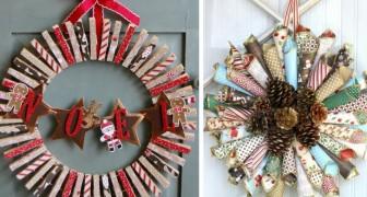 Immagini Di Ghirlande Di Natale.Ghirlande Di Natale 12 Idee Alternative E Facili Da Realizzare Per Renderle Uniche Creativo Media