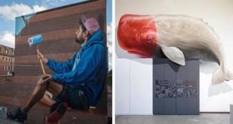 25 opere imponenti di street art urbana che sembrano catapultarci in un'altra dimensione