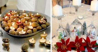 16 soluzioni fai da te per decorare il vostro Natale con candele originali