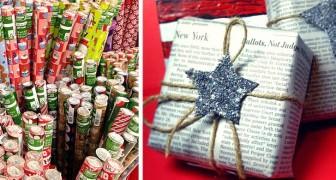 Avvolgere i regali nella carta di giornale: un gesto utile per un Natale all'insegna della sostenibilità
