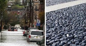 Dieser Asphalt ist in der Lage, Tausende von Litern Wasser in einer Minute aufzunehmen: eine Lösung für städtische Hochwasser