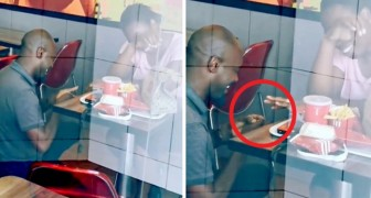 He makes his declaration in a fast-food restaurant and is humiliated but some companies decide to help pay for their wedding