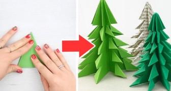 Alberi Di Natale Di Carta.Alberi Di Natale Di Carta La Tecnica Facile E Veloce Per Creare Origami Con Un Solo Foglio Creativo Media