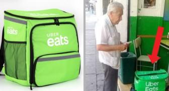 Per non impigrirsi davanti alla TV, questo pensionato cammina per la città consegnando cibo a domicilio