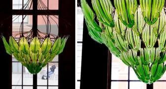 Questo lampadario fatto di vetro ed alghe verdi è capace di assorbire CO2 e pulire l'aria