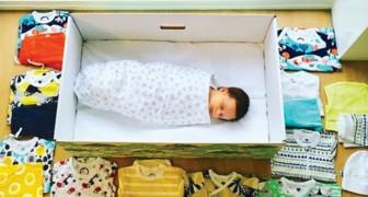 En Finlande, l'État offre une boîte en carton à chaque nouveau-né : une tradition qui mérite d'être imitée