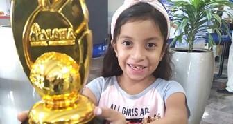 Den här 8-åriga flickan har löst 70 matematiska problem i huvudet på mindre än 5 minuter