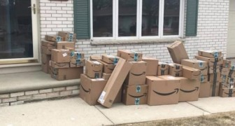 Eine Frau bewahrte die Amazon-Pakete 6 Monate lang auf, um ihrem Mann einen Streich zu spielen