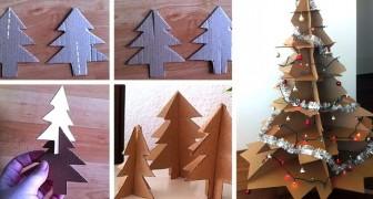 14 idee semplici ed economiche per realizzare un bellissimo albero di Natale con il cartone