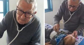 Un pediatra di 92 anni in pensione continua a curare gratuitamente i bambini bisognosi