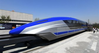 Die neue chinesische Magnetschwebebahn erreicht eine Geschwindigkeit von 600 km/h