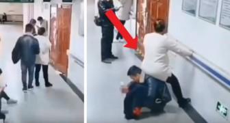 Niemand staat op om plaats te maken voor zijn zwangere vrouw: haar man laat haar op zijn rug zitten