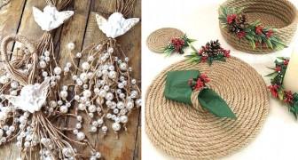 Natale: 10 idee all'insegna del riciclo per decorare con spago, juta e fune senza spendere troppo