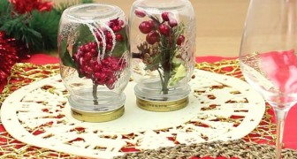 Trasformare i barattoli in deliziosi centrotavola: l'idea rapida e creativa per apparecchiare a Natale