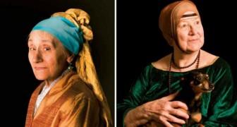 41 von Alzheimer betroffene ältere Menschen werden in dieser Wanderausstellung zu Protagonisten der Meisterwerke der Malerei