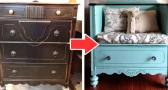 16 idee brillanti per trasformare i vecchi mobili in creazioni che daranno loro nuova vita