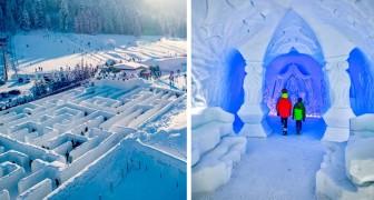 Snowlandia : en Pologne, il existe un labyrinthe de glace de la taille de 10 courts de tennis
