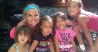 A woman adopts all four young daughters of her friend who passed away due to a brain tumor