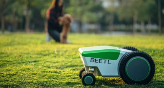 Ein Unternehmen hat einen Roboter erfunden, der die Hinterlassenschaften von Hunden erkennt und aufsammelt